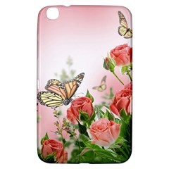 Flora Butterfly Roses Samsung Galaxy Tab 3 (8 ) T3100 Hardshell Case