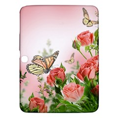 Flora Butterfly Roses Samsung Galaxy Tab 3 (10 1 ) P5200 Hardshell Case