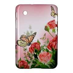 Flora Butterfly Roses Samsung Galaxy Tab 2 (7 ) P3100 Hardshell Case