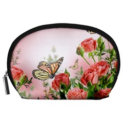 Flora Butterfly Roses Accessory Pouches (large)