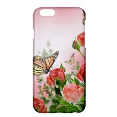 Flora Butterfly Roses Apple Iphone 6 Plus/6s Plus Hardshell Case