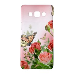 Flora Butterfly Roses Samsung Galaxy A5 Hardshell Case