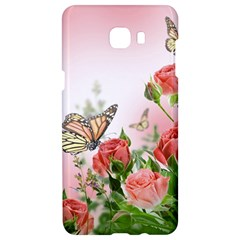 Flora Butterfly Roses Samsung C9 Pro Hardshell Case