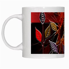 Colorful Leaves White Mugs