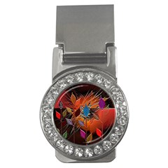 Colorful Leaves Money Clips (cz)