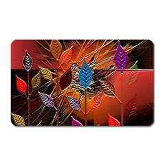 Colorful Leaves Magnet (rectangular)