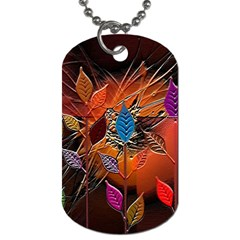Colorful Leaves Dog Tag (one Side)