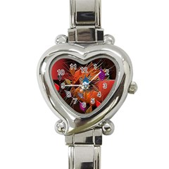 Colorful Leaves Heart Italian Charm Watch