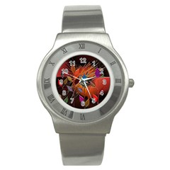 Colorful Leaves Stainless Steel Watch