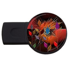 Colorful Leaves Usb Flash Drive Round (4 Gb)