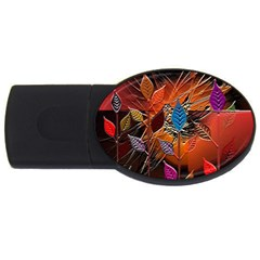 Colorful Leaves Usb Flash Drive Oval (4 Gb)