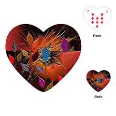 Colorful Leaves Playing Cards (heart)