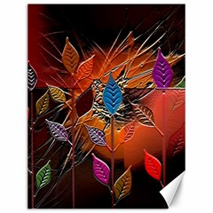 Colorful Leaves Canvas 12  X 16