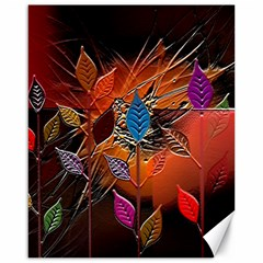 Colorful Leaves Canvas 16  X 20