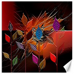 Colorful Leaves Canvas 20  X 20
