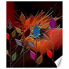 Colorful Leaves Canvas 20  X 24