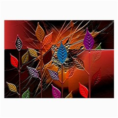 Colorful Leaves Large Glasses Cloth