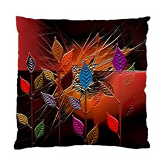Colorful Leaves Standard Cushion Case (one Side)