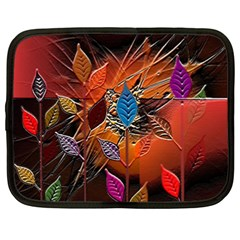Colorful Leaves Netbook Case (xxl)