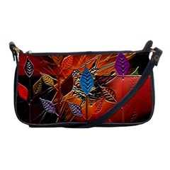 Colorful Leaves Shoulder Clutch Bags