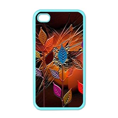 Colorful Leaves Apple Iphone 4 Case (color)