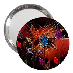 Colorful Leaves 3  Handbag Mirrors