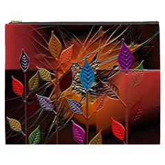 Colorful Leaves Cosmetic Bag (xxxl)