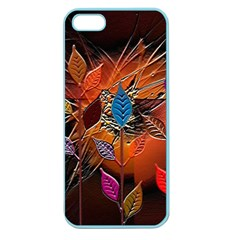 Colorful Leaves Apple Seamless Iphone 5 Case (color)