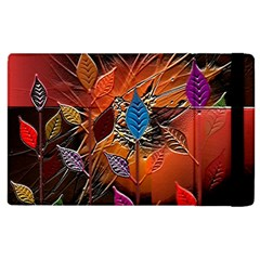 Colorful Leaves Apple Ipad 2 Flip Case