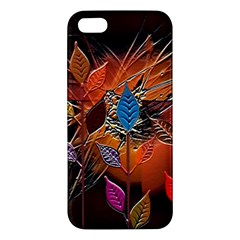 Colorful Leaves Iphone 5s/ Se Premium Hardshell Case