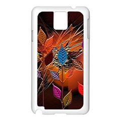 Colorful Leaves Samsung Galaxy Note 3 N9005 Case (white)
