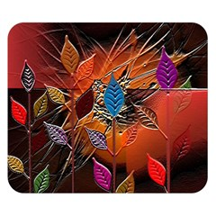 Colorful Leaves Double Sided Flano Blanket (small)