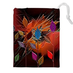 Colorful Leaves Drawstring Pouches (xxl)