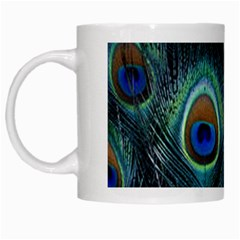 Feathers Art Peacock Sheets Patterns White Mugs