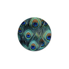 Feathers Art Peacock Sheets Patterns Golf Ball Marker (4 Pack)