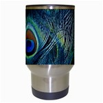 Feathers Art Peacock Sheets Patterns Travel Mugs (White) Center