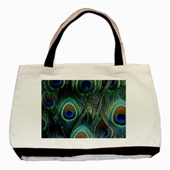 Feathers Art Peacock Sheets Patterns Basic Tote Bag (two Sides)