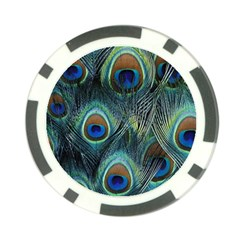 Feathers Art Peacock Sheets Patterns Poker Chip Card Guard