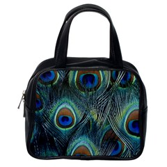 Feathers Art Peacock Sheets Patterns Classic Handbags (one Side)