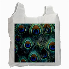 Feathers Art Peacock Sheets Patterns Recycle Bag (one Side)