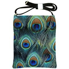 Feathers Art Peacock Sheets Patterns Shoulder Sling Bags