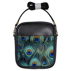 Feathers Art Peacock Sheets Patterns Girls Sling Bags