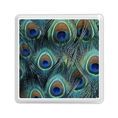 Feathers Art Peacock Sheets Patterns Memory Card Reader (square)