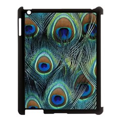 Feathers Art Peacock Sheets Patterns Apple Ipad 3/4 Case (black)