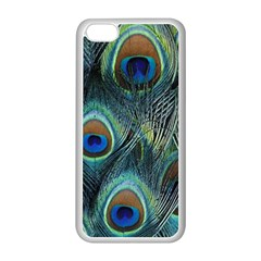 Feathers Art Peacock Sheets Patterns Apple Iphone 5c Seamless Case (white)
