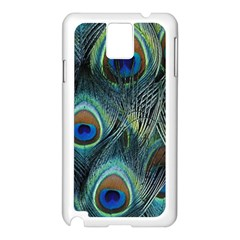 Feathers Art Peacock Sheets Patterns Samsung Galaxy Note 3 N9005 Case (white)