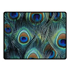 Feathers Art Peacock Sheets Patterns Double Sided Fleece Blanket (small)