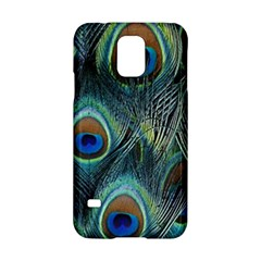 Feathers Art Peacock Sheets Patterns Samsung Galaxy S5 Hardshell Case