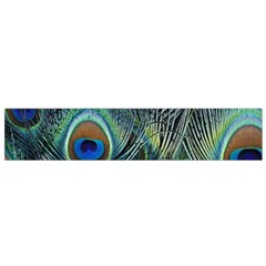 Feathers Art Peacock Sheets Patterns Flano Scarf (small)