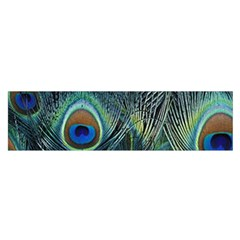 Feathers Art Peacock Sheets Patterns Satin Scarf (oblong)